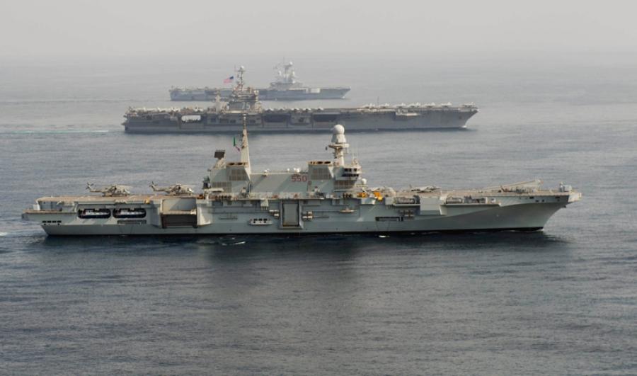 Portaaviones cavour buques de guerra